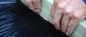 プランターで玉ねぎの黒マルチのやり方